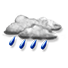 Coperto con pioggia debole