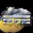 Molto nuvoloso con piogge e temporali e nebbia