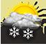 Nubi irregolari con rovesci di neve