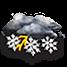Coperto con temporali nevosi