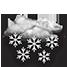 Coperto con neve forte a carattere di bufera