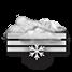 Coperto con neve debole e nebbia