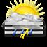 Nubi irregolari con possibili temporali e nebbia