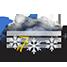 Coperto con temporali nevosi e nebbia