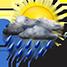 Nubi irregolari con pioggia forte