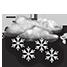 Coperto con neve forte