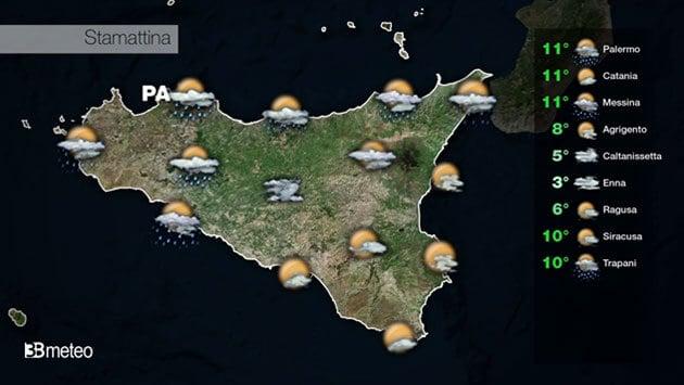 METEO SICILIA VIDEO: previsioni AGGIORNATE